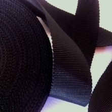 Black Milliner's Petersham Ribbon in 3 Widths